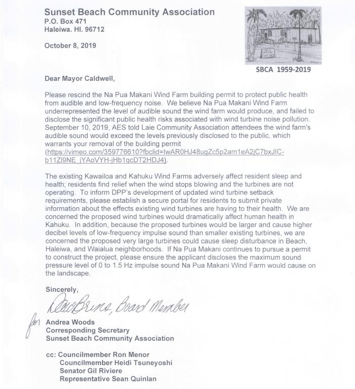 SBCA Letter Rescind Na Pua Makani Oct 2019
