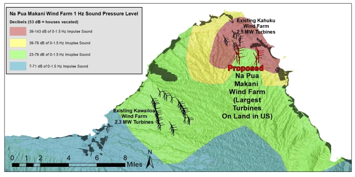 Na Pua Sound Pressure Level Map